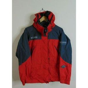 Columbia S Full Zip Titanium Jacket Coat Red